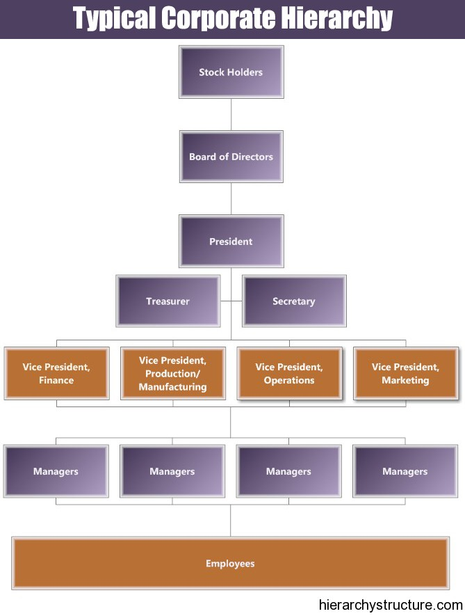 Typical Corporate Hierarchy