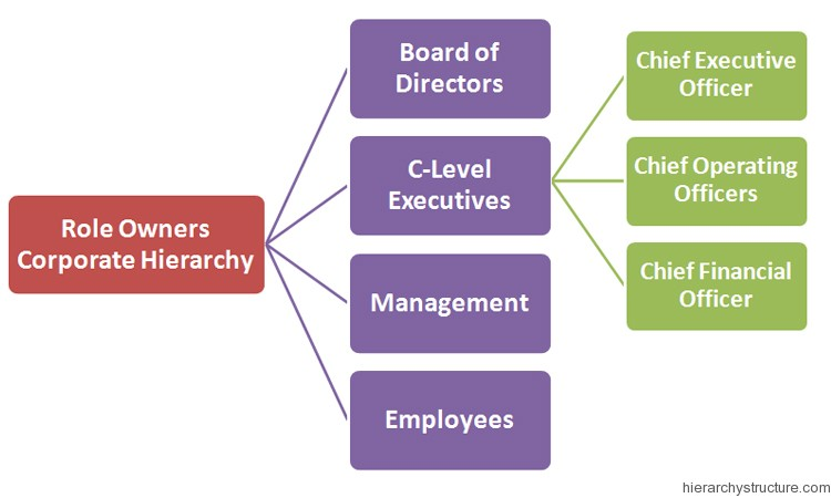 Role Owners Corporate Hierarchy