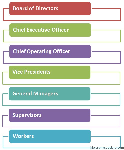 Corporate Management Hierarchy