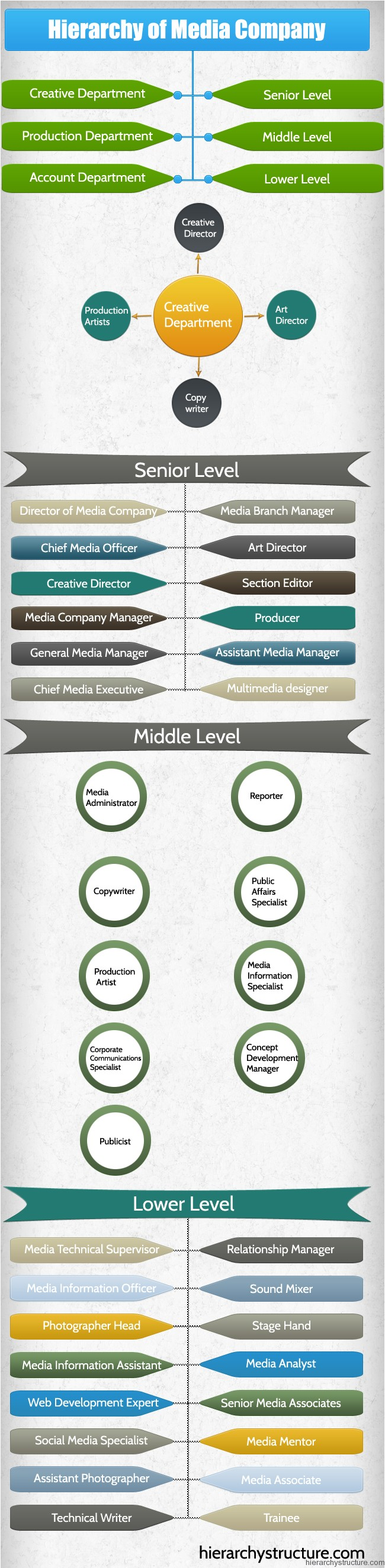 Hierarchy of Media Company