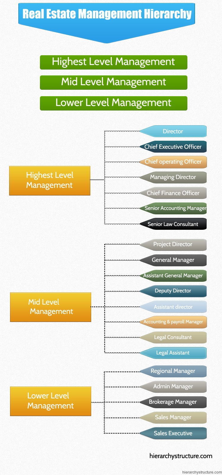 Real Estate Management Hierarchy