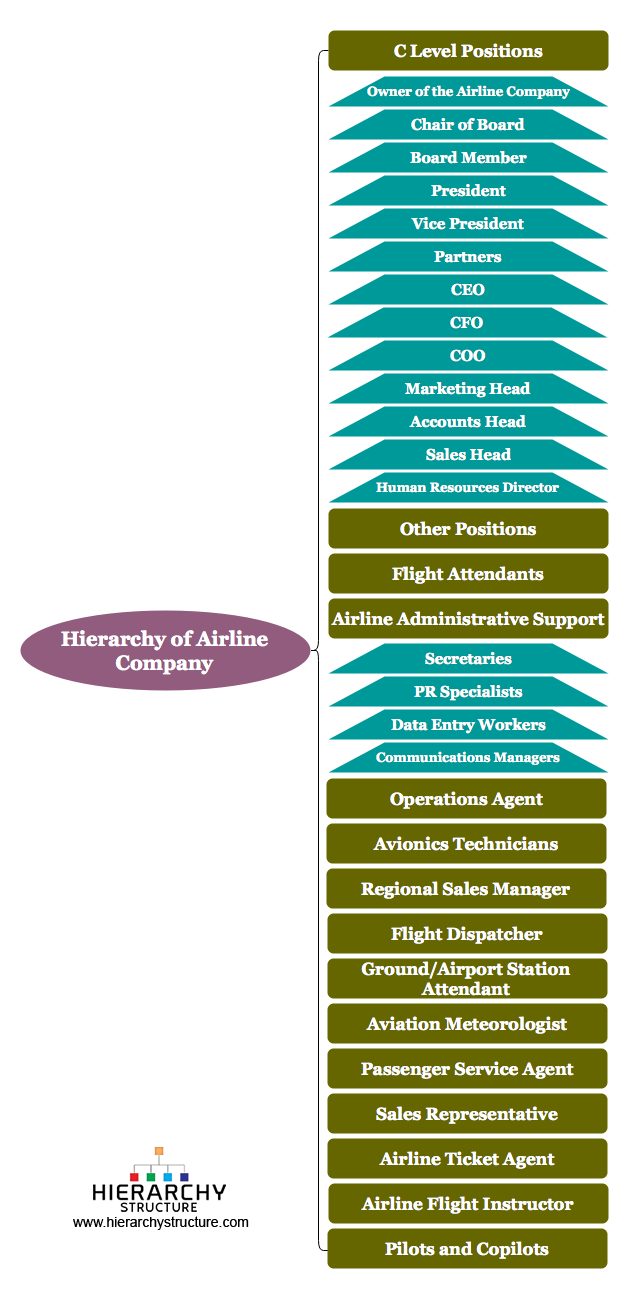Hierarchy of Airline Company