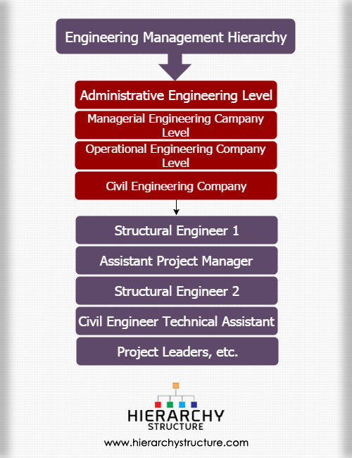 Engineering management hierarchy