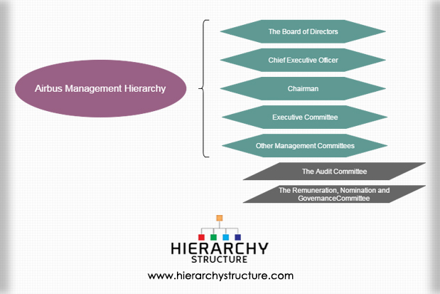Airbus Management Hierarchy