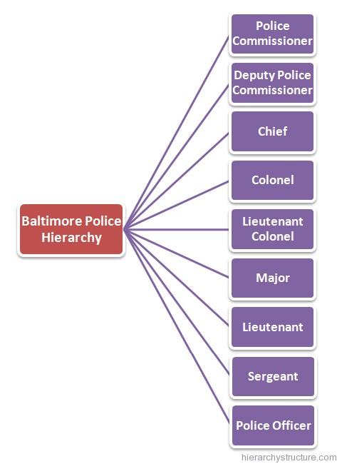 Baltimore Police Hierarchy