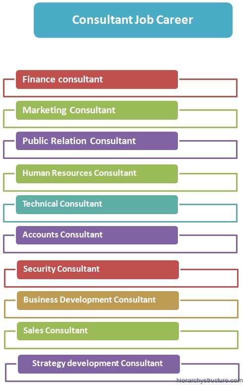 Consultant jobs hierarchy levels and roles in management for Product development consulting