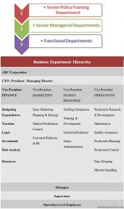 Business Department Hierarchy