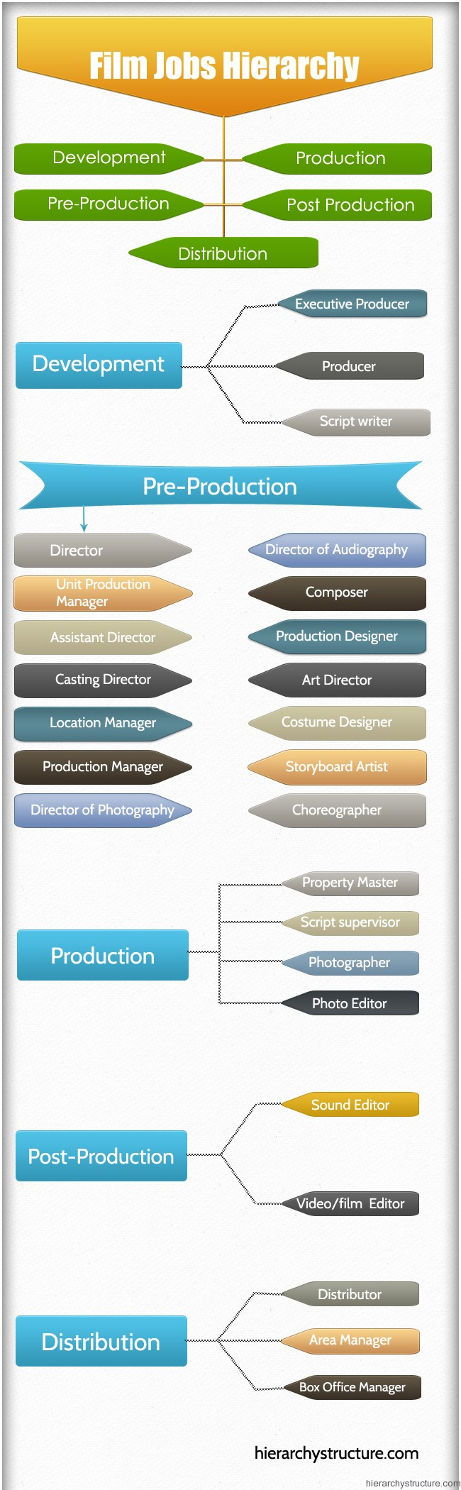 Film Jobs Hierarchy