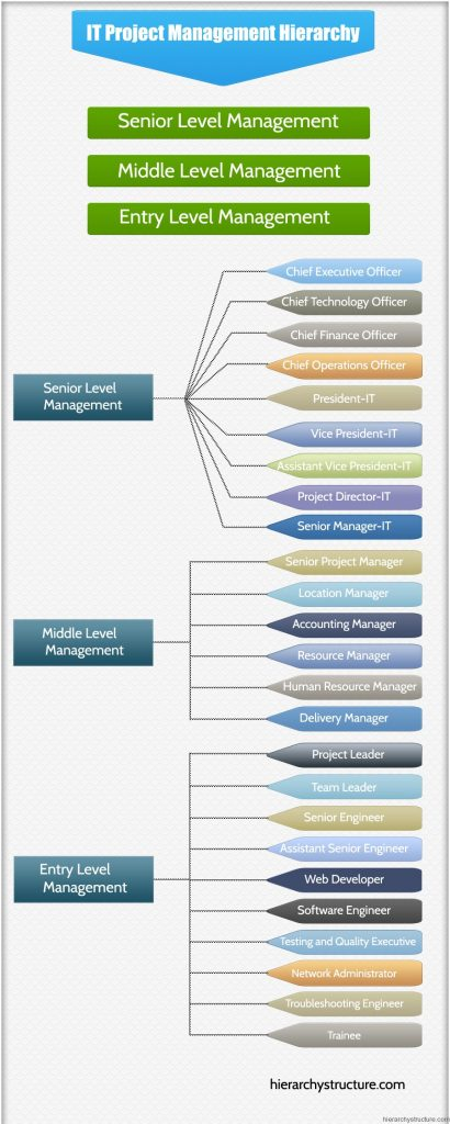 it project management hierarchy