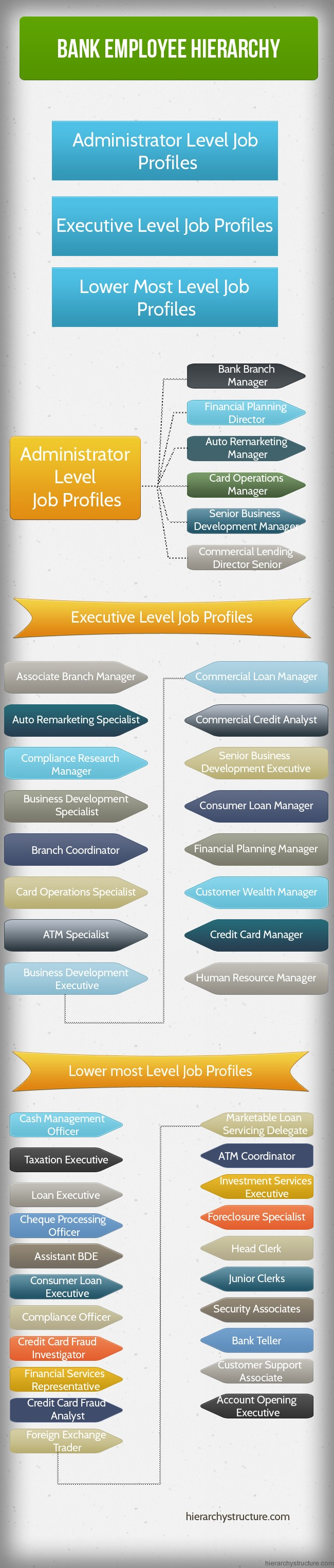 bank employee hierarchy chart