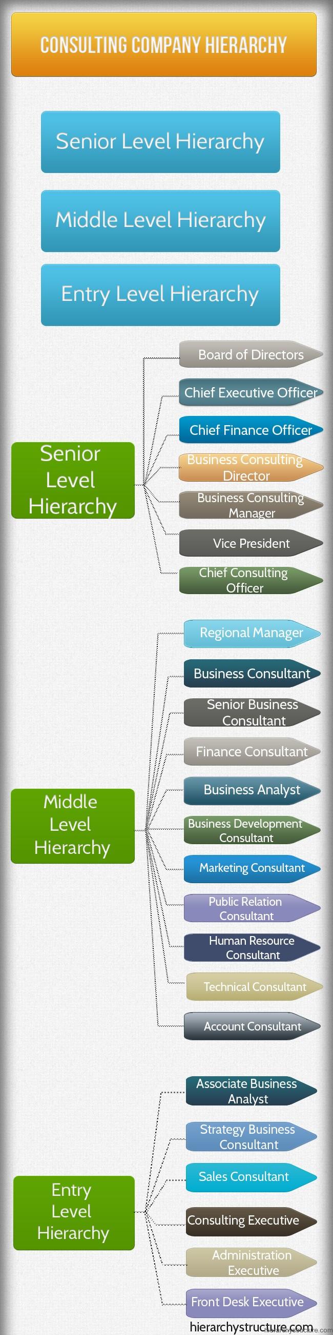 Consulting Company Hierarchy
