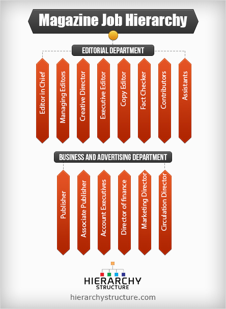 Magazine Job Hierarchy Chart  HierarchystructureCom