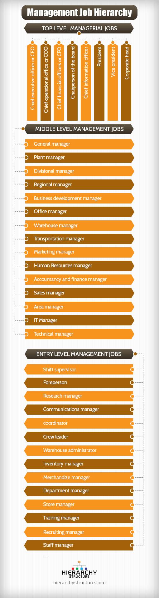 management job hierarchy