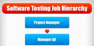 software testing job hierarchy