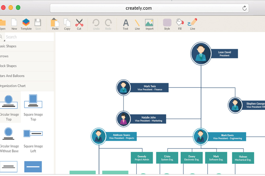 Have A Schedule To Create An Organizational Chart Go Online
