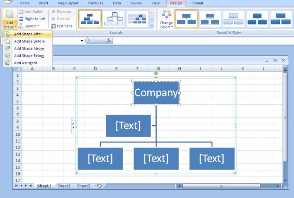 How to Draw Organizational Charts Lines in Excel in Few Seconds?