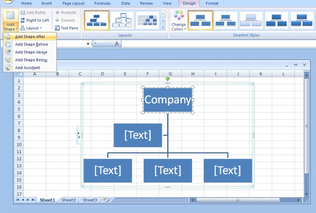 Drawing Lines With Excel : How to draw organizational charts lines in excel few